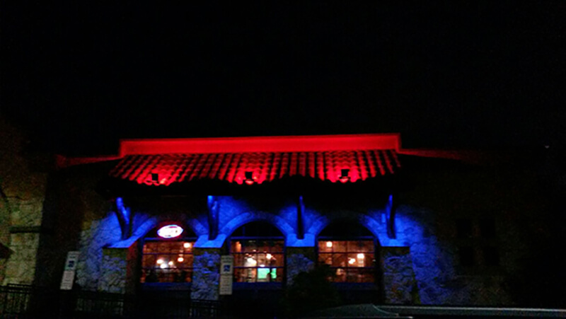 exterior restaurant LED lighting