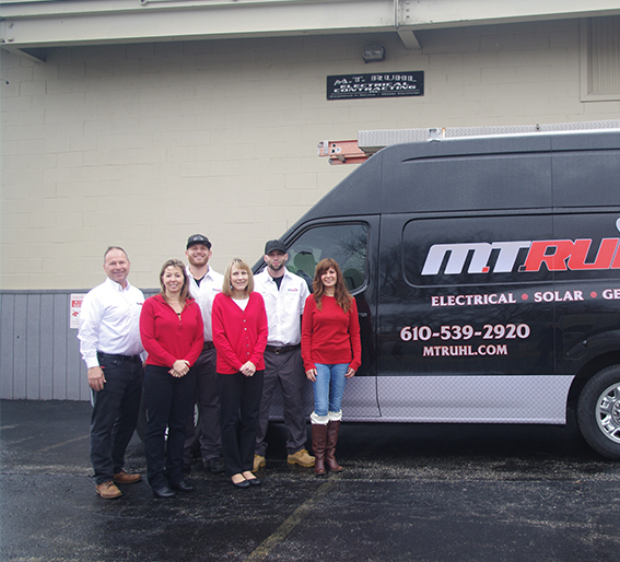 M.T. Ruhl electrical contracting team